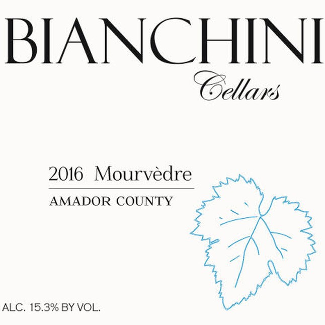 Bianchi winery label mourvedre